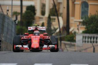 World © Octane Photographic Ltd. Scuderia Ferrari SF15-T– Kimi Raikkonen. Thursday 21st May 2015, F1 Practice 1, Monte Carlo, Monaco. Digital Ref: 1272LB1D3546