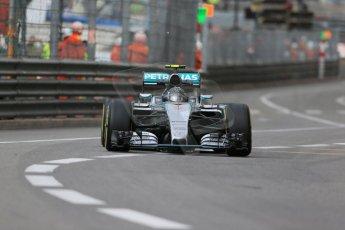 World © Octane Photographic Ltd. Mercedes AMG Petronas F1 W06 Hybrid – Nico Rosberg. Thursday 21st May 2015, F1 Practice 1, Monte Carlo, Monaco. Digital Ref: 1272LB1D3669