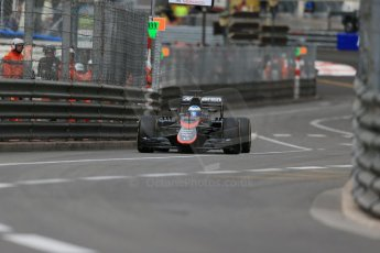 World © Octane Photographic Ltd. McLaren Honda MP4/30 – Fernando Alonso. Thursday 21st May 2015, F1 Practice 1, Monte Carlo, Monaco. Digital Ref: 1272LB1D3737