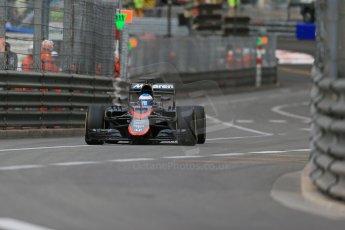World © Octane Photographic Ltd. McLaren Honda MP4/30 – Fernando Alonso. Thursday 21st May 2015, F1 Practice 1, Monte Carlo, Monaco. Digital Ref: 1272LB1D3756