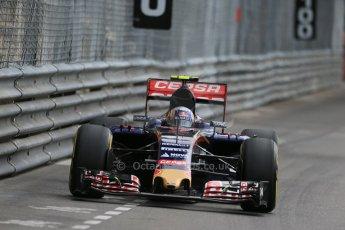World © Octane Photographic Ltd. Scuderia Toro Rosso STR10 – Carlos Sainz Jnr. Thursday 21st  May 2015, F1 Practice 1, Monte Carlo, Monaco. Digital Ref: 1272LB1D3887