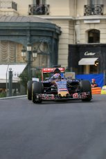 World © Octane Photographic Ltd. Scuderia Toro Rosso STR10 – Max Verstappen. Thursday 21st May 2015, F1 Practice 1, Monte Carlo, Monaco. Digital Ref: 1272LB5D2649