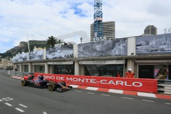 World © Octane Photographic Ltd. Scuderia Toro Rosso STR10 – Max Verstappen. Thursday 21st May 2015, F1 Practice 1, Monte Carlo, Monaco. Digital Ref: 1272LB5D2840