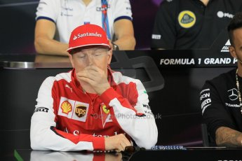 World © Octane Photographic Ltd. Scuderia Ferrari – Kimi Raikkonen. Wednesday 20th May 2015, FIA Drivers' Press Conference, Monte Carlo, Monaco. Digital Ref: 1271CB1L9338