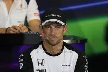 World © Octane Photographic Ltd. McLaren Honda - Jenson Button. Wednesday 20th May 2015, FIA Drivers' Press Conference, Monte Carlo, Monaco. Digital Ref: 1271CB7D2587