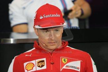 World © Octane Photographic Ltd. Scuderia Ferrari – Kimi Raikkonen. Wednesday 20th May 2015, FIA Drivers' Press Conference, Monte Carlo, Monaco. Digital Ref: 1271LB1D3025