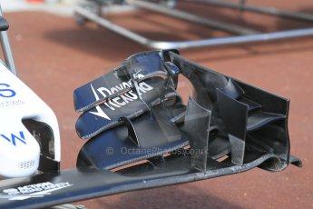 World © Octane Photographic Ltd. Williams Martini Racing FW37 front wing. Wednesday 20th May 2015, F1 Pitlane, Monte Carlo, Monaco. Digital Ref: 1270CB1L9096