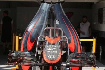 World © Octane Photographic Ltd. McLaren Honda MP4/30. Wednesday 20th May 2015, F1 Pitlane, Monte Carlo, Monaco. Digital Ref: 1270CB1L9106