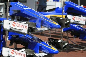 World © Octane Photographic Ltd. Sauber F1 Team C34-Ferrari noses. Wednesday 20th May 2015, F1 Pitlane, Monte Carlo, Monaco. Digital Ref:  1270CB1L9128