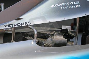 World © Octane Photographic Ltd. Mercedes AMG Petronas F1 W06 Hybrid. Wednesday 20th May 2015, F1 Pitlane, Monte Carlo, Monaco. Digital Ref: 1270CB1L9247