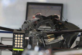 World © Octane Photographic Ltd. Williams Martini Racing FW37 gearbox and rear suspension. Wednesday 20th May 2015, F1 Pitlane, Monte Carlo, Monaco. Digital Ref:  1270CB7D2472