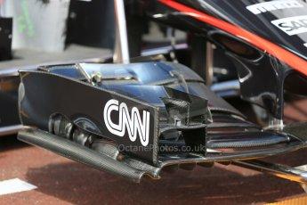 World © Octane Photographic Ltd. McLaren Honda MP4/30 front wing. Wednesday 20th May 2015, F1 Pitlane, Monte Carlo, Monaco. Digital Ref: 1270LB5D2443