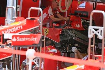 World © Octane Photographic Ltd. Scuderia Ferrari SF15-T angled radiators. Wednesday 20th May 2015, F1 Pitlane, Monte Carlo, Monaco. Digital Ref: 1270LB5D2537
