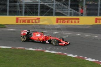World © Octane Photographic Ltd. Scuderia Ferrari SF15-T– Kimi Raikkonen. Friday 5th June 2015, F1 Canadian GP Practice 2, Circuit Gilles Villeneuve, Montreal, Canada. Digital Ref: 1292LB1D0216