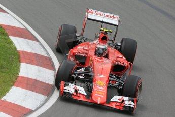 World © Octane Photographic Ltd. Scuderia Ferrari SF15-T– Kimi Raikkonen. Friday 5th June 2015, F1 Canadian GP Practice 2, Circuit Gilles Villeneuve, Montreal, Canada. Digital Ref: 1292LB1D9904