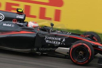 World © Octane Photographic Ltd. McLaren Honda MP4/30 - Jenson Button. Friday 5th June 2015, F1 Canadian GP Practice 2, Circuit Gilles Villeneuve, Montreal, Canada. Digital Ref: 1292LB7D0049
