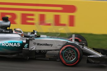 World © Octane Photographic Ltd. Mercedes AMG Petronas F1 W06 Hybrid – Lewis Hamilton. Friday 5th June 2015, F1 Canadian GP Practice 2, Circuit Gilles Villeneuve, Montreal, Canada. Digital Ref: 1292LB7D0198
