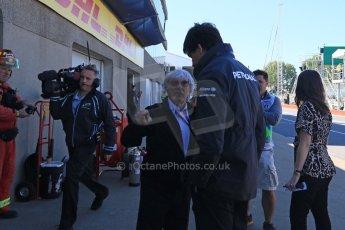 World © Octane Photographic Ltd. Mercedes AMG Petronas – Toto Wolff and Bernie Ecclestone. Saturday 6th June 2015, F1 Canadian GP Practice 3 pitlane, Circuit Gilles Villeneuve, Montreal, Canada. Digital Ref: 1295CB7D0840