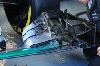 World © Octane Photographic Ltd. Mercedes AMG Petronas front wing detail. Saturday 6th June 2015, F1 Canadian GP Practice 3 pitlane, Circuit Gilles Villeneuve, Montreal, Canada. Digital Ref: 1295LB1D0826