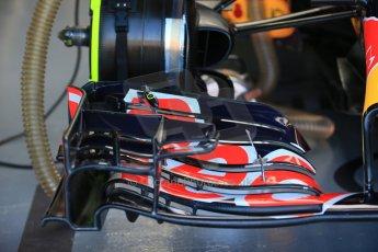 World © Octane Photographic Ltd. Infiniti Red Bull Racing RB11 front wing detail. Saturday 6th June 2015, F1 Canadian GP Practice 3 pitlane, Circuit Gilles Villeneuve, Montreal, Canada. Digital Ref: 1295LB1D0918
