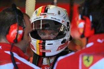 World © Octane Photographic Ltd. Scuderia Ferrari SF15-T– Sebastian Vettel. Saturday 6th June 2015, F1 Canadian GP Practice 3 pitlane, Circuit Gilles Villeneuve, Montreal, Canada. Digital Ref: 1295LB1D1040