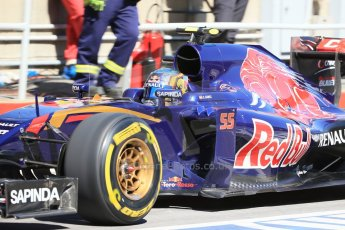 World © Octane Photographic Ltd. Scuderia Toro Rosso STR10 – Carlos Sainz Jnr. Saturday 6th June 2015, F1 Canadian GP Practice 3 pitlane, Circuit Gilles Villeneuve, Montreal, Canada. Digital Ref: 1295LB1D1171