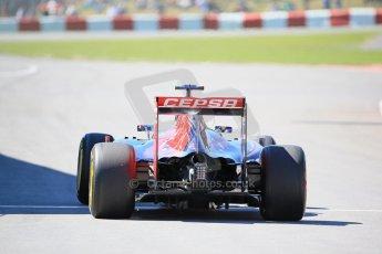 World © Octane Photographic Ltd. Scuderia Toro Rosso STR10 – Carlos Sainz Jnr. Saturday 6th June 2015, F1 Canadian GP Practice 3 pitlane, Circuit Gilles Villeneuve, Montreal, Canada. Digital Ref: 1295LB1D1181
