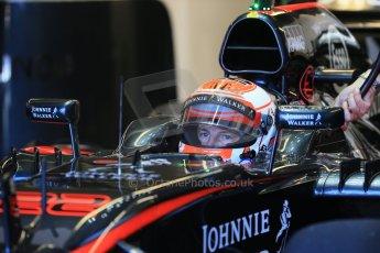 World © Octane Photographic Ltd. McLaren Honda MP4/30 - Jenson Button. Saturday 6th June 2015, F1 Canadian GP Practice 3 pitlane, Circuit Gilles Villeneuve, Montreal, Canada. Digital Ref: 1295LB1D1320