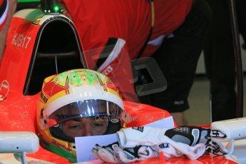 World © Octane Photographic Ltd. Manor Marussia F1 Team MR03B – Roberto Merhi. Saturday 6th June 2015, F1 Canadian GP Practice 3 pitlane, Circuit Gilles Villeneuve, Montreal, Canada. Digital Ref: 1295LB1D1424