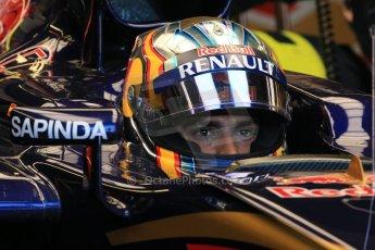 World © Octane Photographic Ltd. Scuderia Toro Rosso STR10 – Carlos Sainz Jnr. Saturday 6th June 2015, F1 Canadian GP Practice 3 pitlane, Circuit Gilles Villeneuve, Montreal, Canada. Digital Ref: 1295LB1D1453