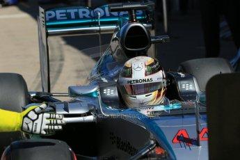 World © Octane Photographic Ltd. Mercedes AMG Petronas F1 W06 Hybrid – Lewis Hamilton. Saturday 6th June 2015, F1 Canadian GP Practice 3 pitlane, Circuit Gilles Villeneuve, Montreal, Canada. Digital Ref: 1295LB1D1671
