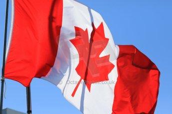 World © Octane Photographic Ltd. Canadian Flag. Saturday 6th June 2015, F1 Canadian GP Paddock, Circuit Gilles Villeneuve, Montreal, Canada. Digital Ref: 1294LB7D0322