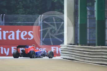 World © Octane Photographic Ltd. Manor Marussia F1 Team MR03B – Alexander Rossi. Friday 18th September 2015, F1 Singapore Grand Prix Practice 1, Marina Bay. Digital Ref: