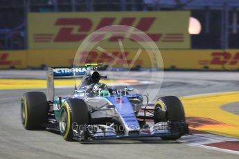 World © Octane Photographic Ltd. Mercedes AMG Petronas F1 W06 Hybrid – Nico Rosberg. Friday 18th September 2015, F1 Singapore Grand Prix Practice 1, Marina Bay. Digital Ref: