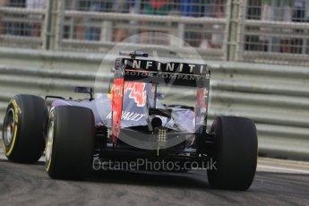 World © Octane Photographic Ltd. Infiniti Red Bull Racing RB11 – Daniel Ricciardo. Friday 18th September 2015, F1 Singapore Grand Prix Practice 1, Marina Bay. Digital Ref: