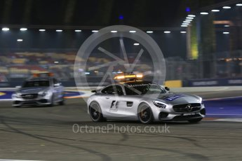 World © Octane Photographic Ltd. Safety Car. Friday 18th September 2015, F1 Singapore Grand Prix Practice 2, Marina Bay. Digital Ref: 1429CB5D0231