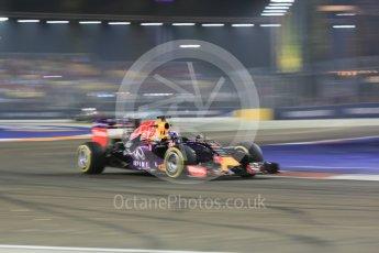 World © Octane Photographic Ltd. Infiniti Red Bull Racing RB11 – Daniel Ricciardo. Friday 18th September 2015, F1 Singapore Grand Prix Practice 2, Marina Bay. Digital Ref: 1429CB5D0356