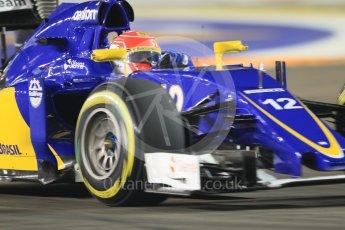 World © Octane Photographic Ltd. Sauber F1 Team C34-Ferrari – Felipe Nasr. Friday 18th September 2015, F1 Singapore Grand Prix Practice 2, Marina Bay. Digital Ref: 1429CB7D0415