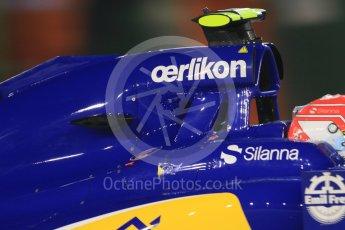 World © Octane Photographic Ltd. Sauber F1 Team C34-Ferrari – Felipe Nasr. Friday 18th September 2015, F1 Singapore Grand Prix Practice 2, Marina Bay. Digital Ref: 1429CB7D0420