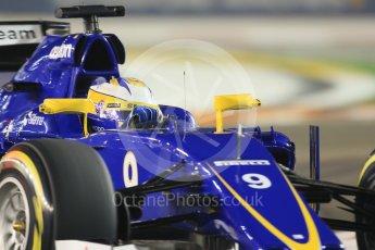 World © Octane Photographic Ltd. Sauber F1 Team C34-Ferrari – Marcus Ericsson. Friday 18th September 2015, F1 Singapore Grand Prix Practice 2, Marina Bay. Digital Ref: 1429CB7D0447