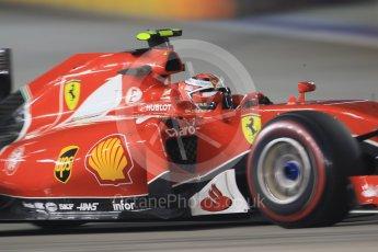 World © Octane Photographic Ltd. Scuderia Ferrari SF15-T– Kimi Raikkonen. Friday 18th September 2015, F1 Singapore Grand Prix Practice 2, Marina Bay. Digital Ref: 1429CB7D0882