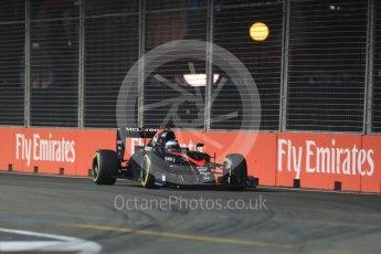 World © Octane Photographic Ltd. McLaren Honda MP4/30 – Fernando Alonso. Friday 18th September 2015, F1 Singapore Grand Prix Practice 2, Marina Bay. Digital Ref: 1429LB1D5977