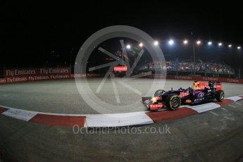 World © Octane Photographic Ltd. Infiniti Red Bull Racing RB11 – Daniel Ricciardo. Friday 18th September 2015, F1 Singapore Grand Prix Practice 2, Marina Bay. Digital Ref: 1429LB1D6261