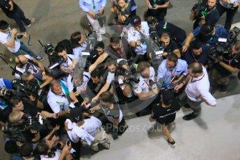 World © Octane Photographic Ltd. Mercedes AMG Petronas F1 W06 Hybrid – Lewis Hamilton and Nico Rosberg. Friday 18th September 2015, F1 Singapore Grand Prix Practice 2, Marina Bay. Digital Ref: 1429LB1D6896