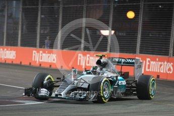 World © Octane Photographic Ltd. Mercedes AMG Petronas F1 W06 Hybrid – Nico Rosberg. Friday 18th September 2015, F1 Singapore Grand Prix Practice 2, Marina Bay. Digital Ref: 1429LB1L9766