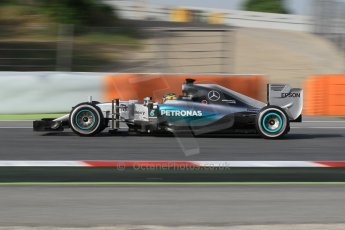 World © Octane Photographic Ltd. Mercedes AMG Petronas F1 W06 Hybrid – Pascal Wehrlein. Wednesday 13th May 2015, F1 In-season testing, Circuit de Barcelona-Catalunya, Spain. Digital Ref: 1269CB1L9014
