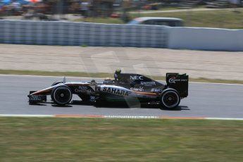 World © Octane Photographic Ltd. Sahara Force India VJM08 – Sergio Perez. Saturday 9th May 2015, F1 Spanish GP Qualifying, Circuit de Barcelona-Catalunya, Spain. Digital Ref: 1257CB7D7957