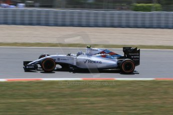 World © Octane Photographic Ltd. Williams Martini Racing FW37 – Valtteri Bottas. Saturday 9th May 2015, F1 Spanish GP Qualifying, Circuit de Barcelona-Catalunya, Spain. Digital Ref: 1257CB7D7992