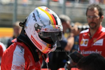 World © Octane Photographic Ltd. Scuderia Ferrari SF15-T– Sebastian Vettel. Saturday 9th May 2015, F1 Spanish GP Qualifying, Circuit de Barcelona-Catalunya, Spain. Digital Ref: 1257CB7D8417