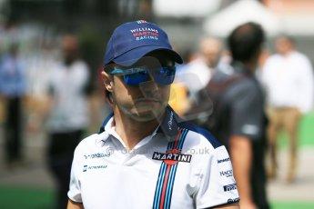 World © Octane Photographic Ltd. Williams Martini Racing FW37 – Felipe Massa. Sunday 10th May 2015, F1 Spanish GP Formula 1 Paddock, Circuit de Barcelona-Catalunya, Spain. Digital Ref: 1264LB1D0047